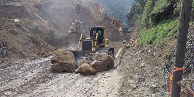 En autopista Medellín-Bogotá esperan que terraplen solucione la movilidad