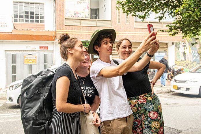 turista en Medellín