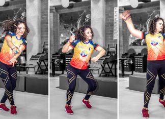 Carolina Ramírez, practicante de Just Dance El videojuego de baile