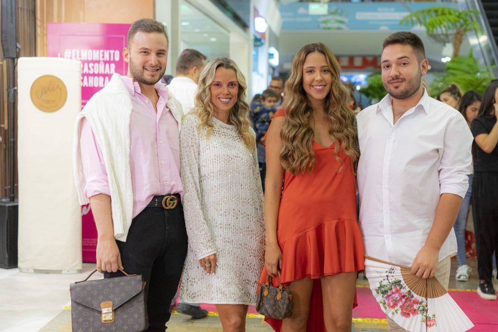 Miguel Garcés, Jessica Palma, Nina Toro y Juan José Londoño