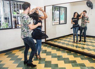 holandés aprendiendo a bailar