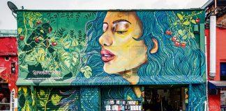 arte urbano en la calle 10 de EL Poblado