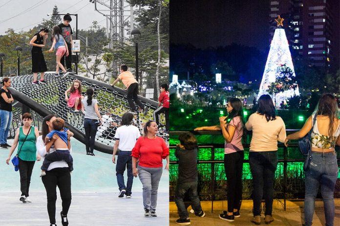 Parques del Río, de día y de noche