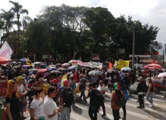 Marchas Medellín Marchas en el Parque de El Poblado (Foto archivo)