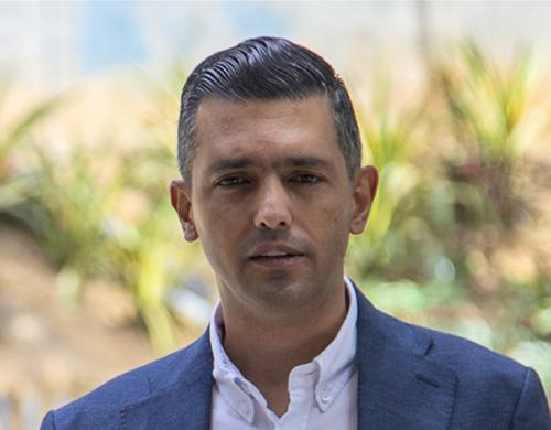 Braulio Espinosa,  alcalde de Envigado.