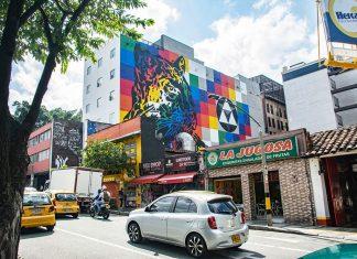 El encanto de los murales de la calle 10 de EL Poblado
