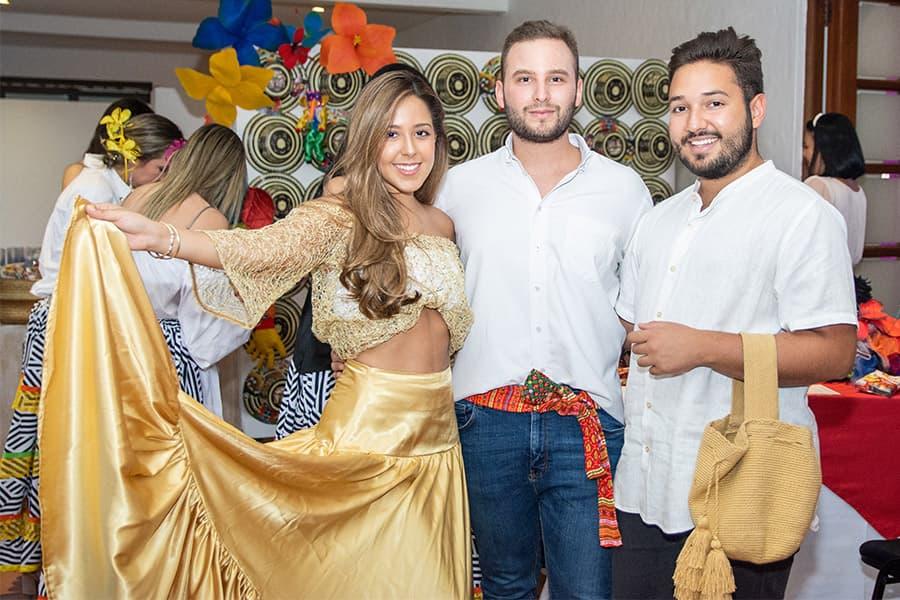 Nina Toro, Miguel garcés y Juan José Londoño