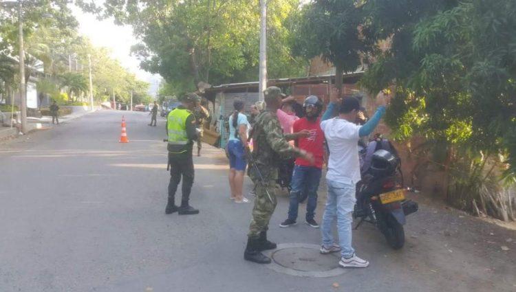policía y ejercito en san Jeronimo