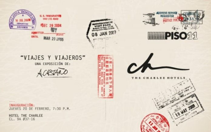 Exposición Viajes y viajeros en el The Charlee Hotel