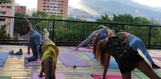 Yoga al parque en el Parque de la Bailarina