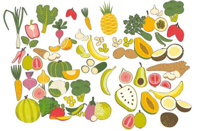 Frutas y verduras en temporada y sea consciente con lo que cocina