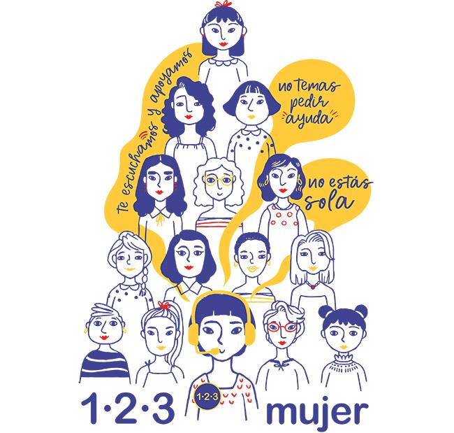 Cómo funciona la línea 123 Mujer