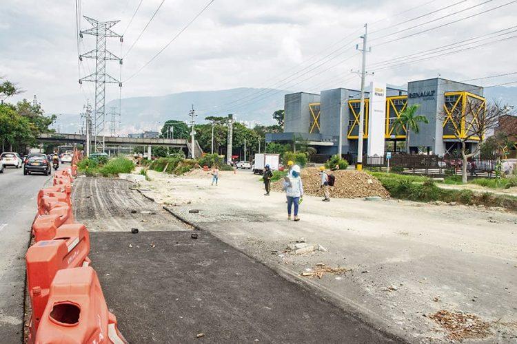 Segundo tramo de la Vía Distribuidora Sur, entre Mayorca y Viva Envigado