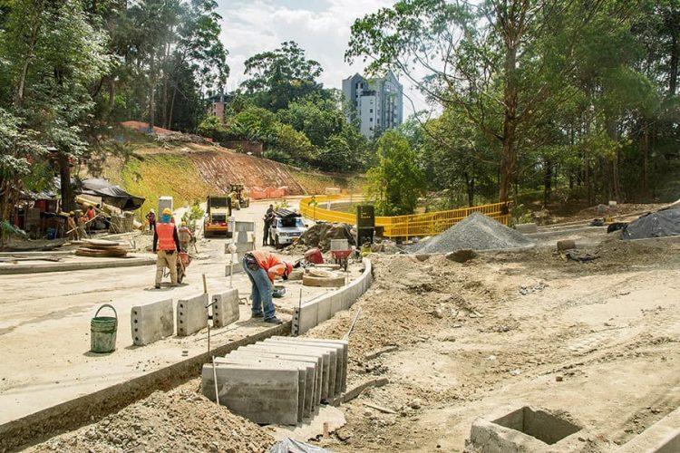 mejoramiento de la loma de Los Mangos (calle 20A sur y obras complementarias)