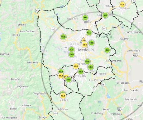 Calidad del aire Medellín 24 abril (2)
