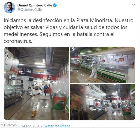 Desinfección Plaza Minorista