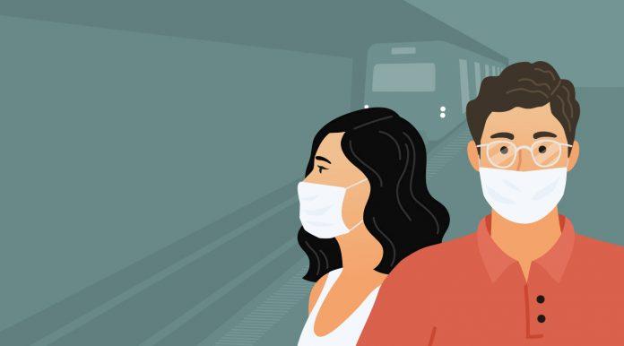 tapabocas en el Metro