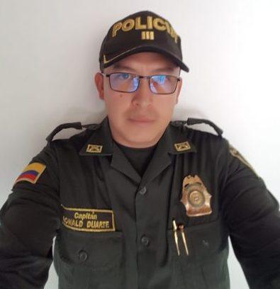 Capitán Ronald Duarte, comandante de Policía de El Poblado (Foto cortesía capitán Ronald Duarte).