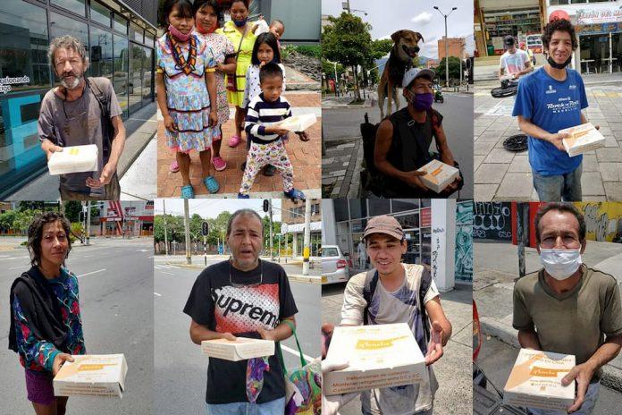 Donación de almuerzos en El Poblado
