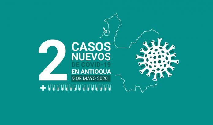 Dos nuevos casos de COVID-19 en Antioquia este 9 de mayo