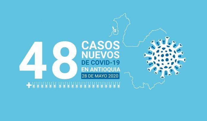 48 casos nuevos de COVID-19 en Antioquia este 28 de mayo —