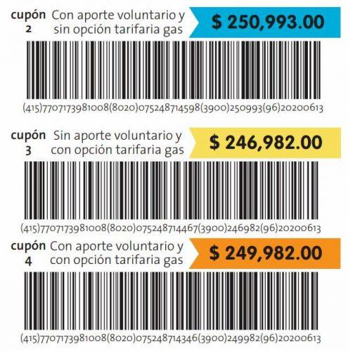 Imagen presentada por EPM de tres de las cuatro opciones de pago de la factura de mayo.