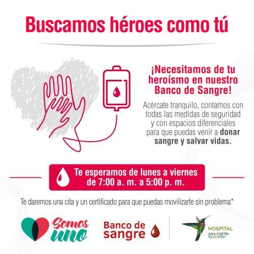 El Banco de sangre tiene sus puertas abiertas para los donantes. También hace jornadas en urbanizaciones, no en casas o apartamentos en forma individual. Es importante su contribución.
