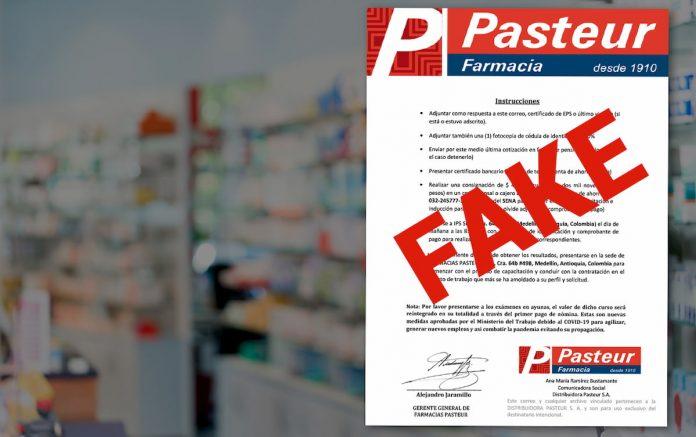 """Ante este caso, Pasteur sugirió que antes de hacer cualquier consignación, el ciudadano verifique los anuncios, contacte a las empresas y corrobore que la información recibida es real. """"Así podrán evitar ser víctimas de esta clase de actos maliciosos""""."""