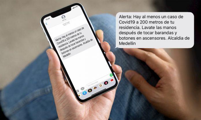 Mensaje de la Alcaldía de Medellín con un caso de COVID-19