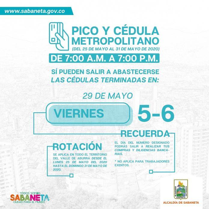 En Sabaneta los permisos de salida operan de 7 a.m. a 7 p.m., según informó la Alcaldía. Estos difieren con los de Medellín y de Envigado.
