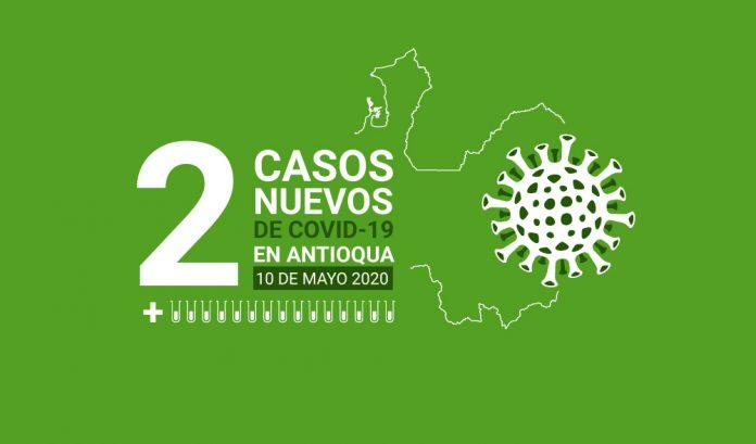 Dos nuevos casos de COVID-19 en Antioquia este 10 de mayo