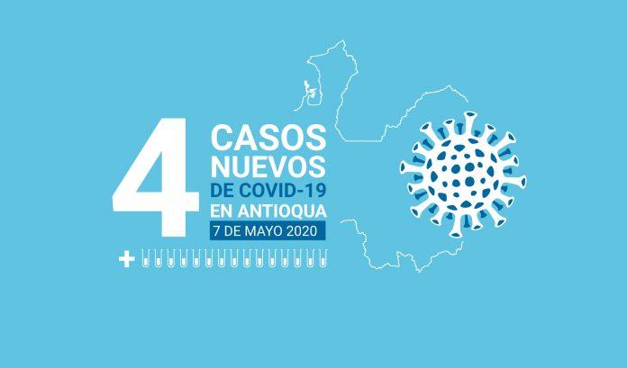Cuatro nuevos casos de COVID-19 en Antioquia este 7 de mayo
