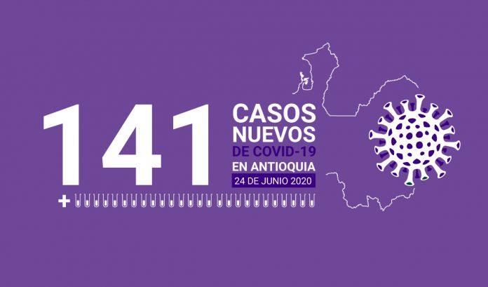 141 casos covid-19 en antioquia el 24 de junio