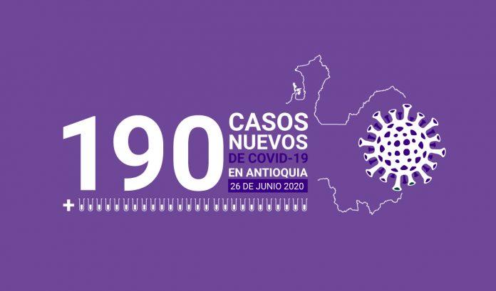 190 casos covid-19 en antioquia el 26 de junio