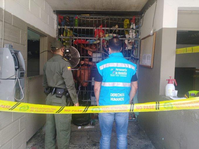 Caso de COVID-19 en la Estación de Policía El Poblado