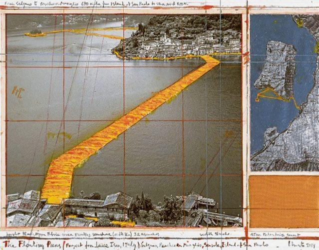 Muelles flotantes, obra de Christo.
