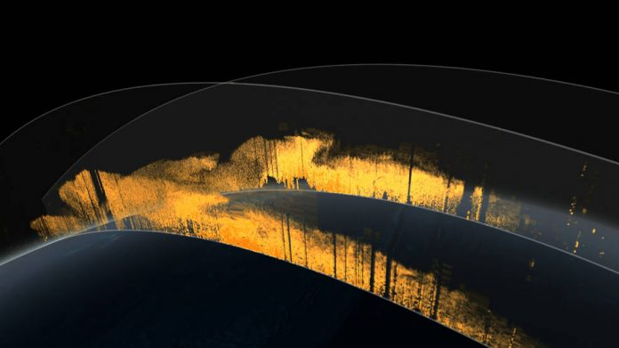 Cortinas de arena del Sahara. Imagen: NASA Goddard's Scientific Visualization Studio