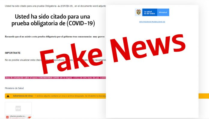 Prueba obligatoria de COVID-19 Fake News