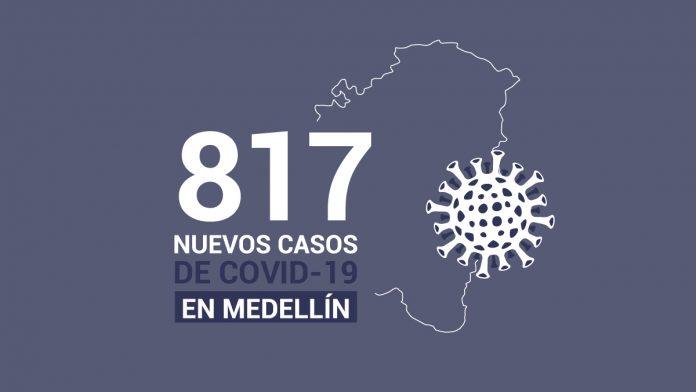 Casos de COVID-19 en Medellín este 25 de julio