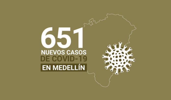 651 casos covid-19 en medellin el 22 de julio