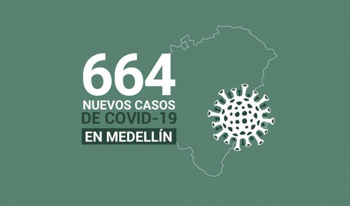 664 casos covid-19 en medellin el 28 de julio