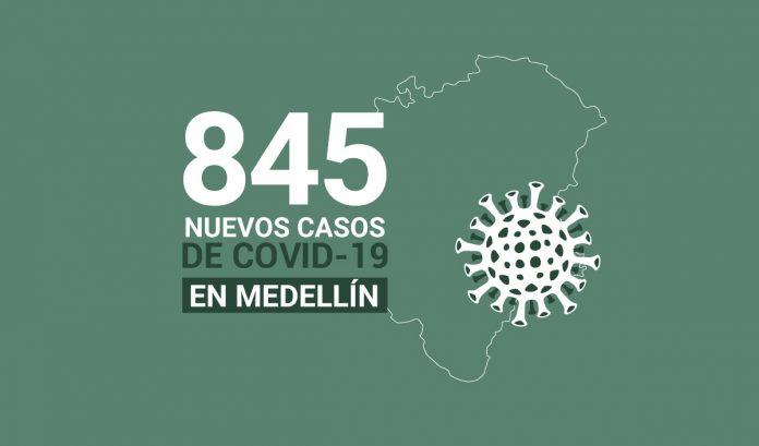 845 casos covid-19 en medellin el 30 de julio