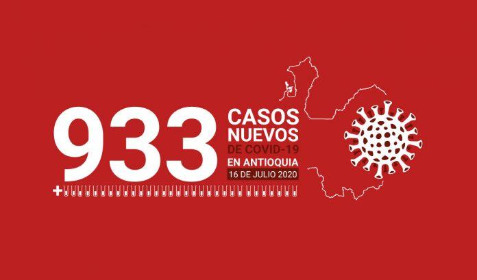 933 casos covid-19 en antioquia el 16 de julio