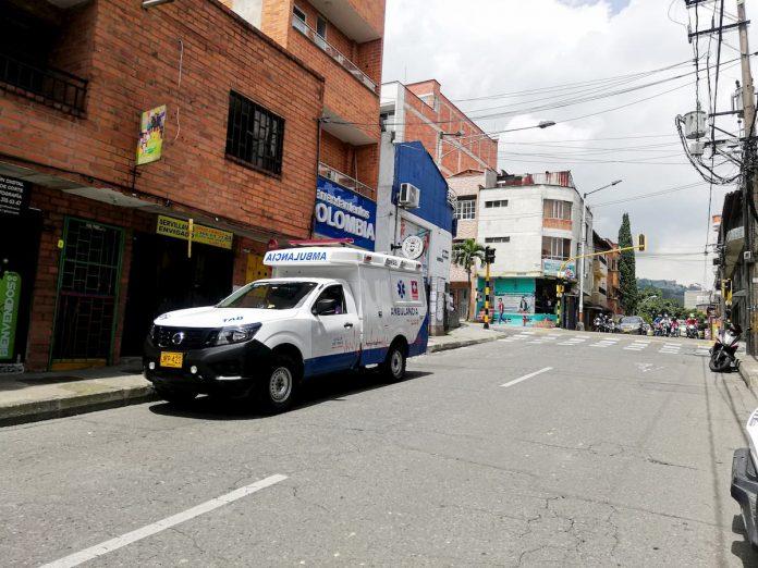 Ambulancia en Envigado Casos Covid