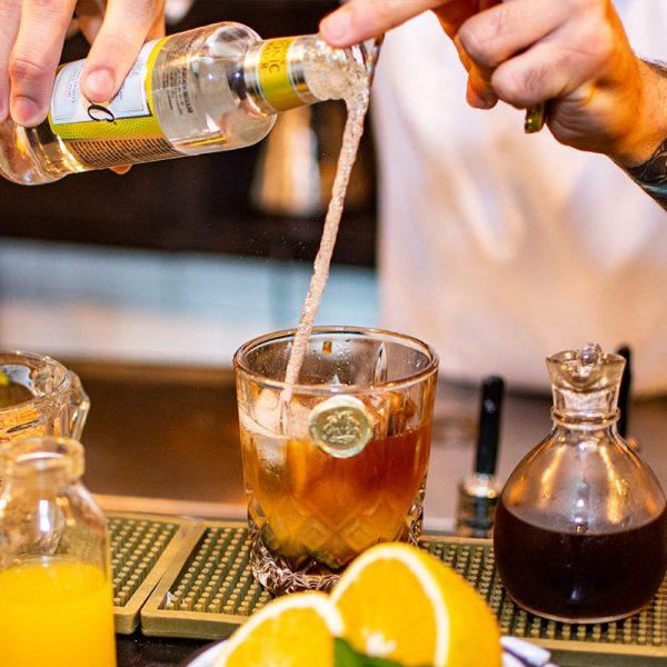 Orange brew tonic