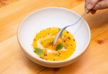 Sopa fría de mandarina