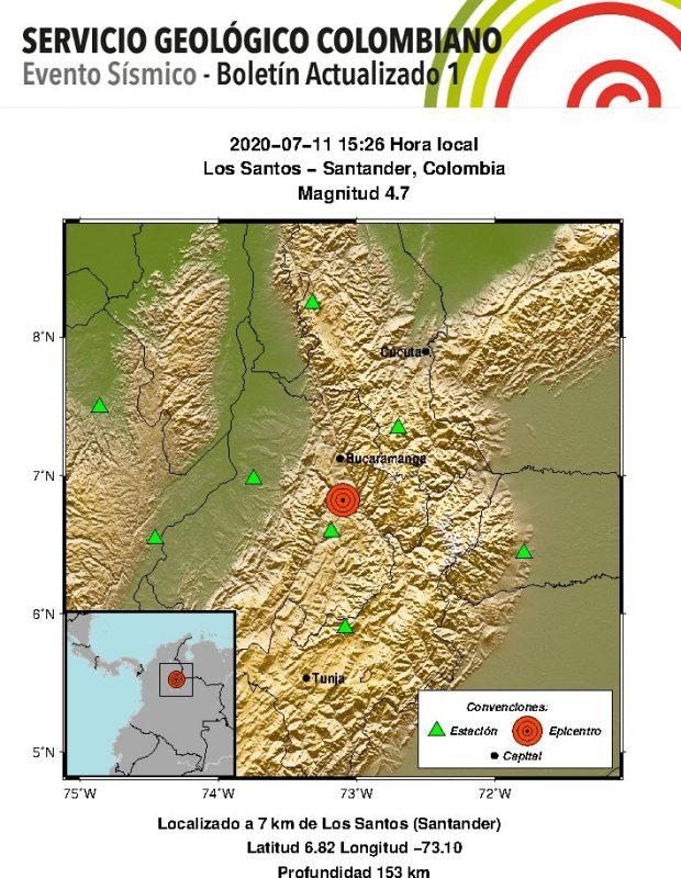 Temblor en Medellín
