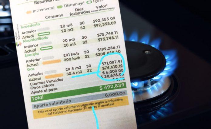 cuenta de servicios EPM gas