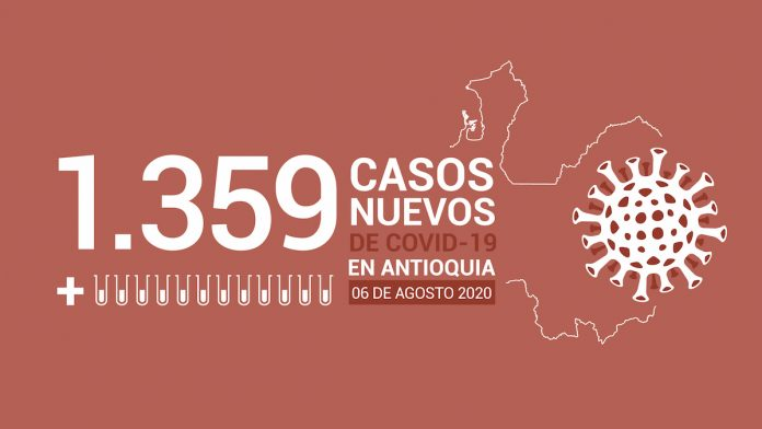 Nuevos casos de coronavirus en Colombia, hoy 08 de agosto