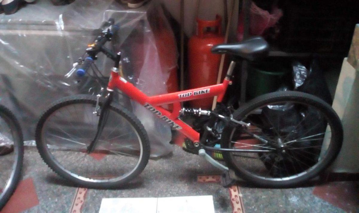 Bicicleta hurtada la mañana de este miércoles a Luis Fernando Toro, en el sector Vía Primavera.
